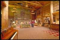 The lobby in the main lodge is spectacular